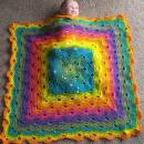 Rainbow Virus Baby Blanket