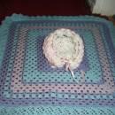crochet hat and blanket