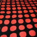 Pink and Black Circle Blanket