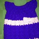 New born baby girl dress with bow