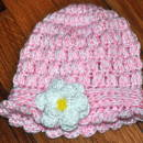 Pink Cloche with Flower