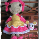 Crochet Crumbs Sugar Cookie and Pet Mouse Lalaloopsy Doll