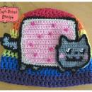 Nyan Cat-Pop Tart Kitty Crochet Hat