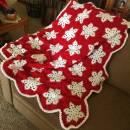 Crocheted Snowflake afghan