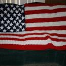 American flag afghan