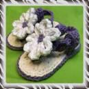 Purple Cotton Toddler Sandals