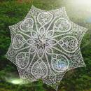 Crochet Umbrella, Wedding Umbrella, White Lace Parasol, Wedding Accessories, Bridal Umbrella