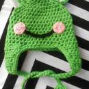Frog Baby Hat with Braids