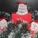 Crochet Silver Bells, Christmas Bells Decoration, Crochet Home Decor, Crochet Table Decoration