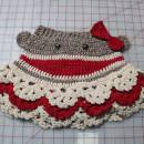 Sock Monkey Butt Skirt made for 4 yr old.