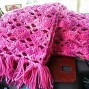 Sweet Pink Spring Scarf