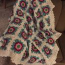 Crocheted African Flower Throw