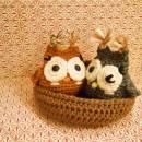 Amigurumi Owls with Nest