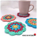 Happy Scrappy Mandala Coasters