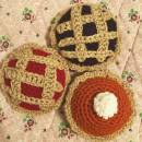 Handmade Crochet Pie Play Set