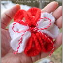 Crochet flower broochs(Martenitsa)
