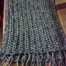 Blue Gray Crochet Shawl