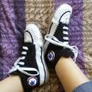 Converse-style Slipper Socks