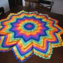 Rainbow Baby Blanket, 12 point star