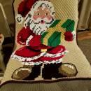 Crochet C2C Santa Afghan