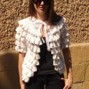 Knitted Cardigan, White Cardigan, Pure White Romantic Cardigan, Satin Ribbon,NEW DESIGN