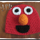 Elmo The Red Guy Crochet Hat