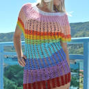 Angel Sleeve Crochet Tunic Free Pattern