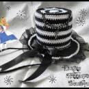 Alice Crochet Mini Top Hat