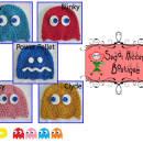 Pac Man's Arch Enemies Crochet Hats