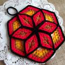 Lucky Star Crochet Pot Holder