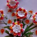Orange Lotus Lily 3D Flower Embellishment