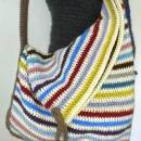 Striped Corner Fold Bag