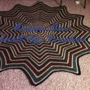 Forest floor round ripple blanket