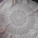Pink swarvoski thread wool shawl