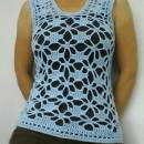 Light Blue Flower Vest
