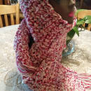 Crocheted double stranded scarf