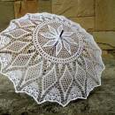 Lace Parasol, Crochet Wedding Umbrella, White Victorian Umbrella, Romantic Wedding