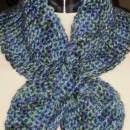 Lotus Leaf Scarf - Variegated Blues