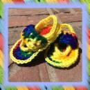 Tie-Dye Look Baby Sandals