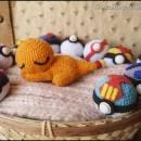 Sleepy Charmander Amigurumi - Pokemon - La Calabaza de Jack