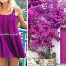 Crochet Purple Dress Free Pattern