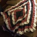 Crocheted virus blanket