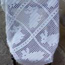 Filet Crochet Bunny Blanket, Crochet Baby Blanket, White Baby Afghan