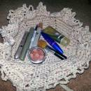Drawstring makeup bag.