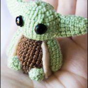Yoda Amigurumi - Star Wars - La Calabaza de Jack