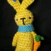 Spring Carrot Bunny - Silver