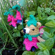 Fuchsia fairy bear
