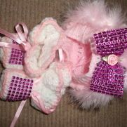 crochet hat and shoes