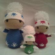 Blip, Red, Pip - The winter dolls
