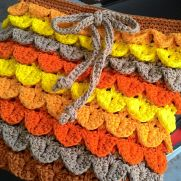 Crocodile stitch sling bag